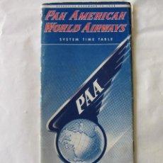 Líneas de navegación: PAN AMERICAN WORLD AIRWAYS. SYSTEM TIME TABLE. 1948/49. Lote 83043148