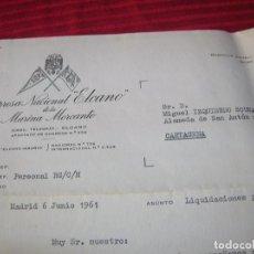 Líneas de navegación: CARTA. EMPRESA NACIONAL ELCANO DE LA MARINA MERCANTE.AÑO 1961. Lote 88586260