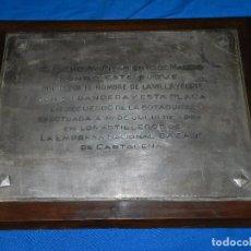 Líneas de navegación: (M) PLACA DE PLATA - BOTADURA EFECTUADA EL 14 DE JULIO 1961 ASTILLEROS BAZAN DE CARTAGENA. Lote 90548605