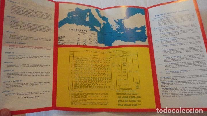 Líneas de navegación: XI PEREGRINACION TIERRA SANTA.TRASATLANTICO CABO SAN ROQUE.YBARRA.1976 - Foto 2 - 90684985