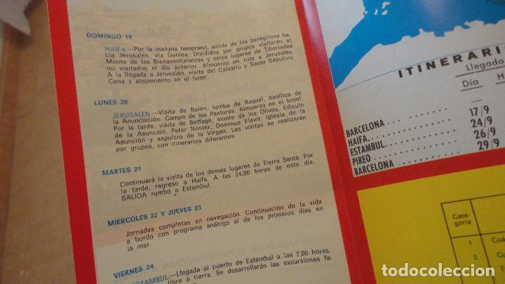 Líneas de navegación: XI PEREGRINACION TIERRA SANTA.TRASATLANTICO CABO SAN ROQUE.YBARRA.1976 - Foto 3 - 90684985