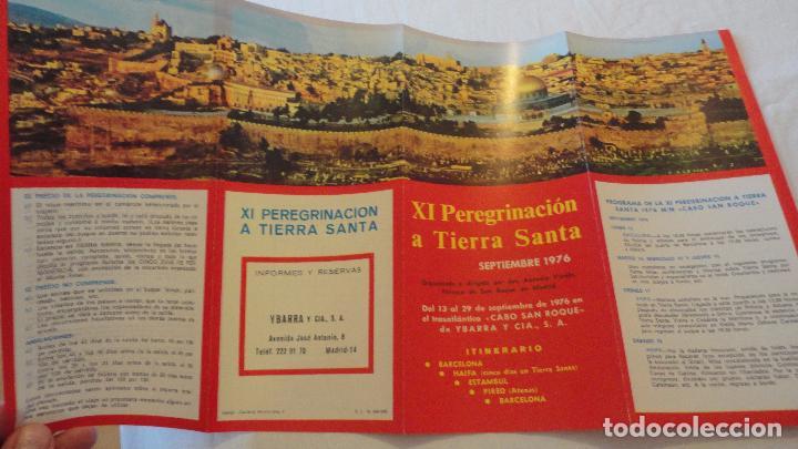 Líneas de navegación: XI PEREGRINACION TIERRA SANTA.TRASATLANTICO CABO SAN ROQUE.YBARRA.1976 - Foto 6 - 90684985