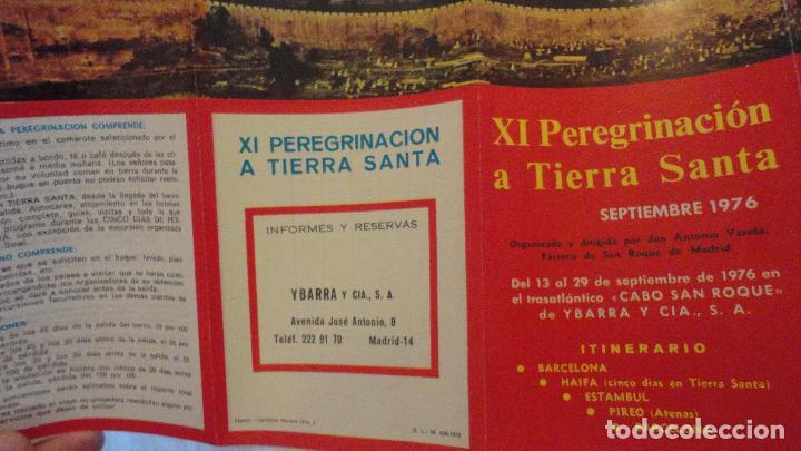 Líneas de navegación: XI PEREGRINACION TIERRA SANTA.TRASATLANTICO CABO SAN ROQUE.YBARRA.1976 - Foto 7 - 90684985