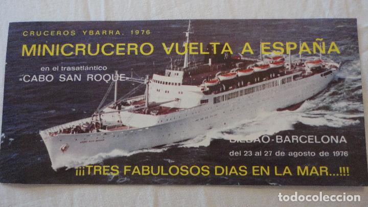 ANTIGUO PROGRAMA.TARIFAS.MINICRUCERO.CABO SAN ROQUE.YBARRA.BILBAO-BARCELONA.1976 (Coleccionismo - Líneas de Navegación)