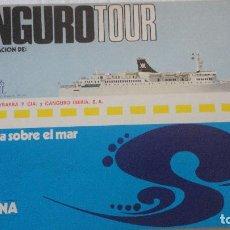 Líneas de navegación: CANGUROTOUR.PROGRAMACION.CRUCEROS MARFIL.PALMA.BARCELONA.GENOVA.YBARRA.1972. Lote 90768365