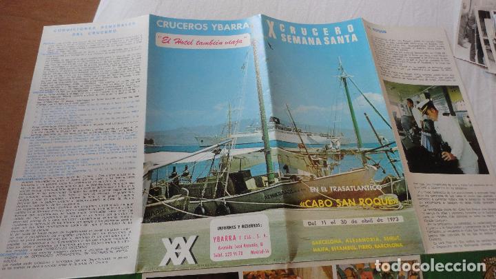 Líneas de navegación: X CRUCERO SEMANA SANTA.TRASATLANTICO CABO SAN ROQUE.YBARRA.1973 - Foto 5 - 91968060
