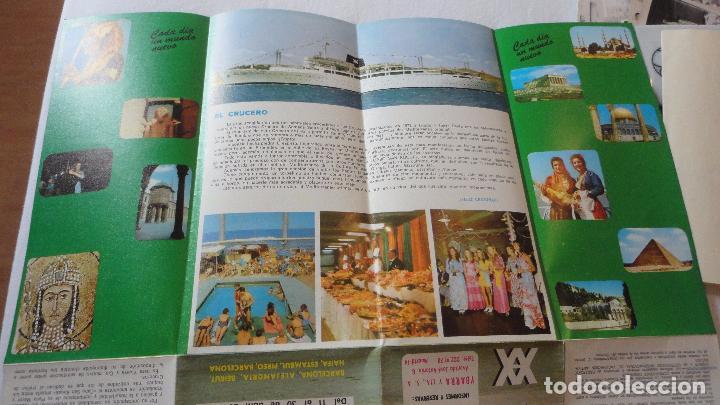 Líneas de navegación: X CRUCERO SEMANA SANTA.TRASATLANTICO CABO SAN ROQUE.YBARRA.1973 - Foto 6 - 91968060