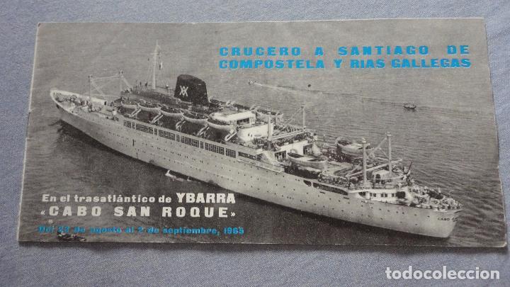 Líneas de navegación: FOLLETOS.CRUCERO SANTIAGO COMPOSTELA.RIAS GALLEGAS.TRASATLANTICO.CABO SAN ROQUE.YBARRA.1965 - Foto 2 - 94959207