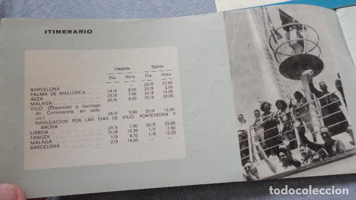 Líneas de navegación: FOLLETOS.CRUCERO SANTIAGO COMPOSTELA.RIAS GALLEGAS.TRASATLANTICO.CABO SAN ROQUE.YBARRA.1965 - Foto 3 - 94959207