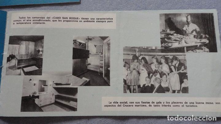 Líneas de navegación: FOLLETOS.CRUCERO SANTIAGO COMPOSTELA.RIAS GALLEGAS.TRASATLANTICO.CABO SAN ROQUE.YBARRA.1965 - Foto 5 - 94959207