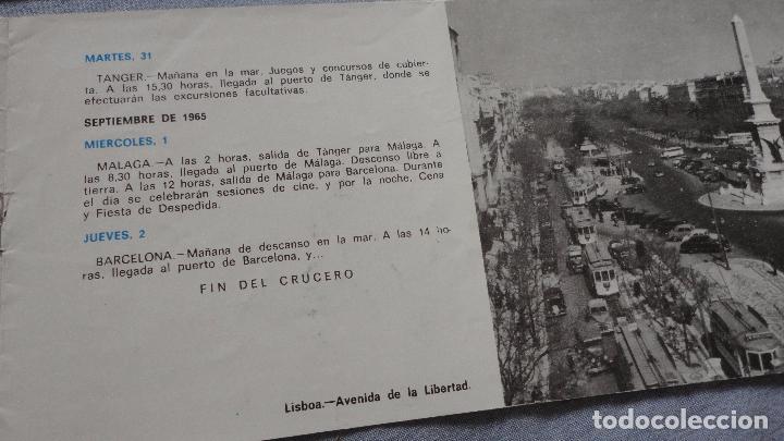 Líneas de navegación: FOLLETOS.CRUCERO SANTIAGO COMPOSTELA.RIAS GALLEGAS.TRASATLANTICO.CABO SAN ROQUE.YBARRA.1965 - Foto 7 - 94959207