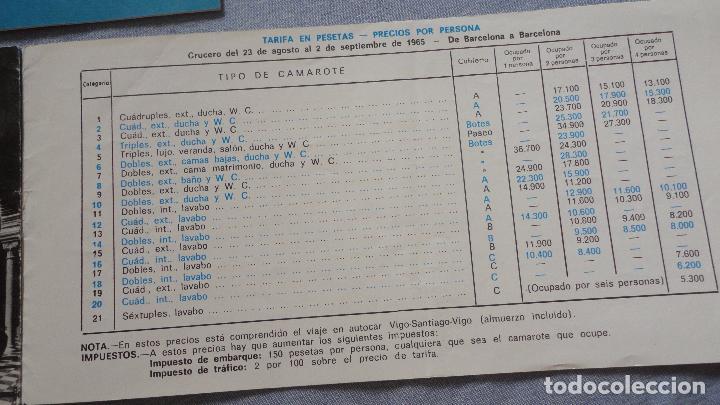 Líneas de navegación: FOLLETOS.CRUCERO SANTIAGO COMPOSTELA.RIAS GALLEGAS.TRASATLANTICO.CABO SAN ROQUE.YBARRA.1965 - Foto 8 - 94959207