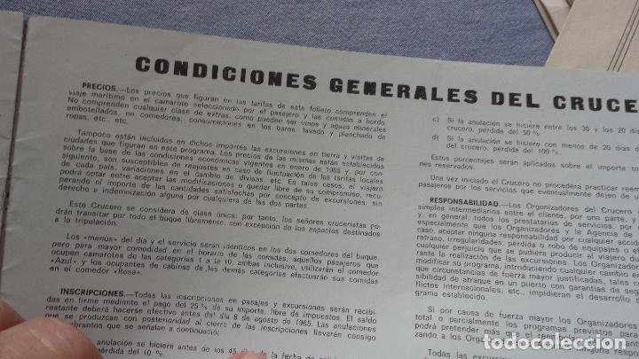 Líneas de navegación: FOLLETOS.CRUCERO SANTIAGO COMPOSTELA.RIAS GALLEGAS.TRASATLANTICO.CABO SAN ROQUE.YBARRA.1965 - Foto 9 - 94959207