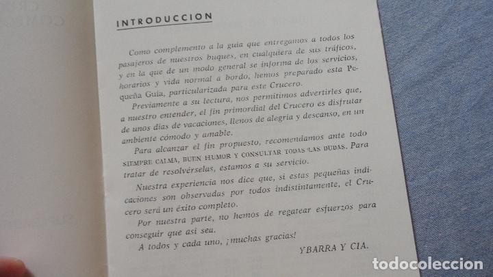 Líneas de navegación: FOLLETOS.CRUCERO SANTIAGO COMPOSTELA.RIAS GALLEGAS.TRASATLANTICO.CABO SAN ROQUE.YBARRA.1965 - Foto 12 - 94959207