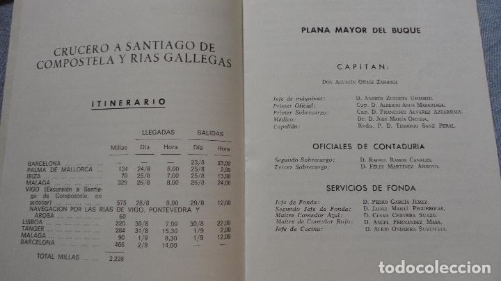 Líneas de navegación: FOLLETOS.CRUCERO SANTIAGO COMPOSTELA.RIAS GALLEGAS.TRASATLANTICO.CABO SAN ROQUE.YBARRA.1965 - Foto 13 - 94959207