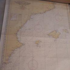 Líneas de navegación: CARTA NAVAL DE CABO TIÑOSO A CABO CERBERE Y DE CABO IVI A CABO CORBELIN INCLUYENDO ISLAS BALEARES. Lote 97766011