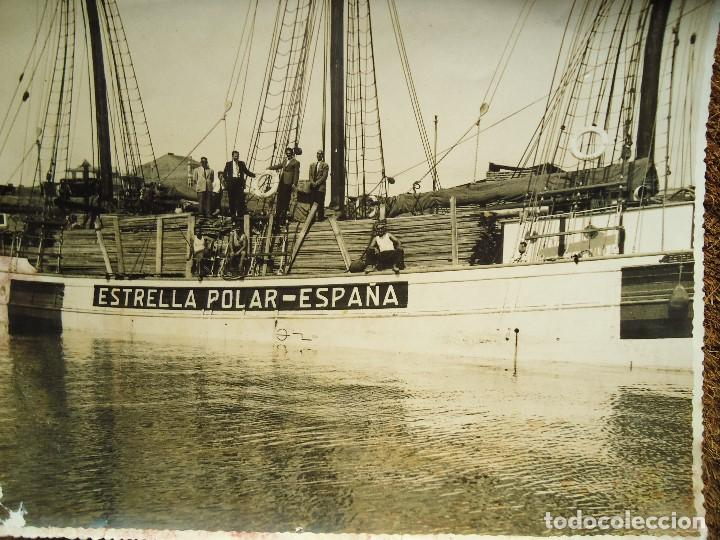 Líneas de navegación: 1950 BARCO ESTRELLA POLAR ATRACADO EN CORUÑA 4 FOTOS 17X23cm. - Foto 4 - 97832440