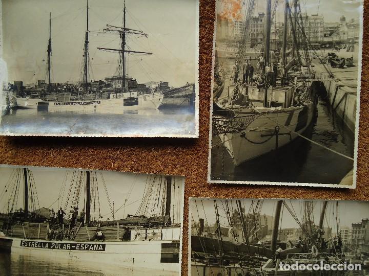 Líneas de navegación: 1950 BARCO ESTRELLA POLAR ATRACADO EN CORUÑA 4 FOTOS 17X23cm. - Foto 6 - 97832440