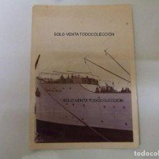 Líneas de navegación: BARCO CIUDAD DE IBIZA COMPAÑÍA TRASMEDITERRÁNEA EX ESBJERG FOTO ANTIGUA ORIGINAL. Lote 97907747