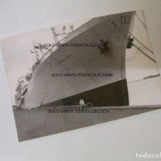 Líneas de navegación: BARCO MONTE UMBE ATRACADO EN EL PUERTO DE COPENHAGUE FOTO ANTIGUA ORIGINAL AÑO 1961. Lote 97908035