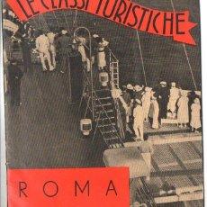 Líneas de navegación: TRASATLÁNTICO ROMA AUGUSTUS : LE CLASSI TURISTICHE (ITALIA, C. 1930). Lote 98783267