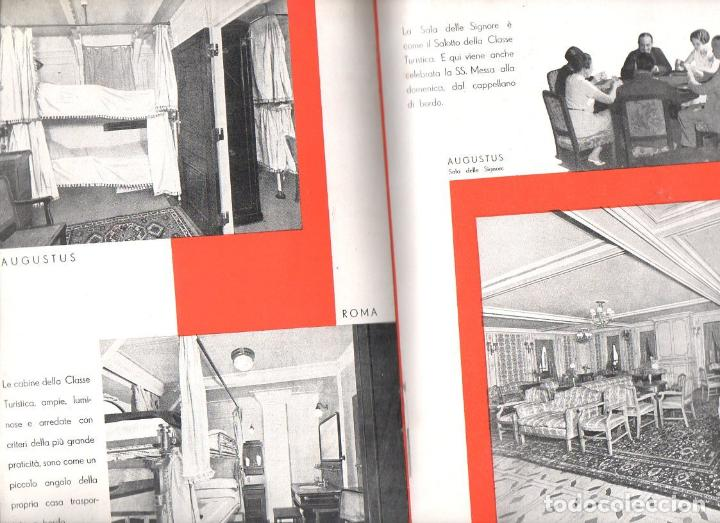 Líneas de navegación: TRASATLÁNTICO ROMA AUGUSTUS : LE CLASSI TURISTICHE (ITALIA, c. 1930) - Foto 2 - 98783267