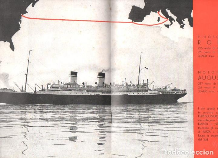 Líneas de navegación: TRASATLÁNTICO ROMA AUGUSTUS : LE CLASSI TURISTICHE (ITALIA, c. 1930) - Foto 4 - 98783267
