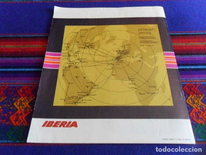 Líneas de navegación: SERVICIOS EN VUELO IBERIA. AÑOS 70. INFLIGHT SERVICE. BAR AIRSHOP INFORMACIÓN MAPAS. - Foto 4 - 102006479