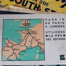 Líneas de navegación: FOLLETO PUBLICITARIO DE LA RED DEL ESTADO PARIS/LONDRES.. Lote 102207543