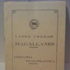 Líneas de navegación: COMPAÑIA TRASATLANTICA VAPOR-CORREO MAGALLANES.. Lote 102476123