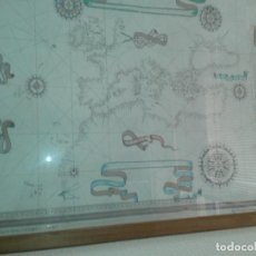Líneas de navegación: REPRODUCCIÓN CARTA NAUTICA COPIA DEL REALIZADO POR JOAN MARTINES EN 1587.. Lote 104545827