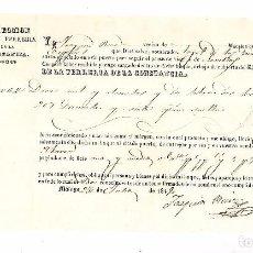 Líneas de navegación: CONOCIMIENTO DE EMBARQUE. 1849. DE MALAGA A SEVILLA. CON HIERRO. Lote 104590935