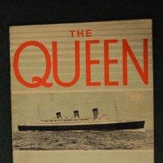 Líneas de navegación: ¨THE QUEEN MARY¨ Y SU CONSTRUCCIÓN, WALTER F. GRIEVE, 1938.. Lote 104974071