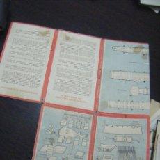 Líneas de navegación: JML INSTRUCCIONRD PARA CASO DE EMERGENCIA EN UN BARCO, IBERIA. VER FOTOS. TAL Y COMO SE VE.. Lote 114938622