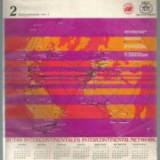 Linee di navigazione: CATALOGO IBERIA INFORMACION RUTAS INTERCONTINENTALES 1976 DE ABRIL A OCTUBRE.. Lote 106618623