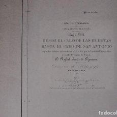 Líneas de navegación: CARTA NAUTICA DESDE CABO HUERTAS HASTA EL CABO SAN ANTONIO, 1876-77. Lote 111771095