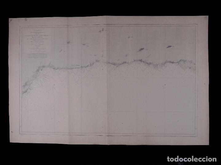 CARTA NAUTICA DESDE TORRE BERMEJA HASTA MOTRIL, 1876 (Coleccionismo - Líneas de Navegación)