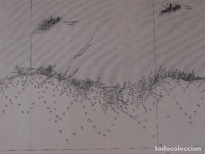 Líneas de navegación: CARTA NAUTICA DESDE TORRE BERMEJA HASTA MOTRIL, 1876 - Foto 4 - 111771623