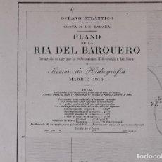 Líneas de navegación: CARTA NAUTICA DE GALICIA, DE LA RIA DEL BARQUERO, 1919. Lote 111772151