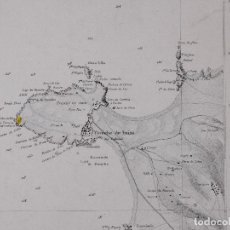 Líneas de navegación: CARTA NAUTICA PORTUGAL, PENINSULA DE PENICHE Y DE LAS ISLAS BERLINGAS, 1854. Lote 111774119