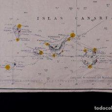 Líneas de navegación: CARTA NAUTICA COSTA DE AFRICA, DESDE CABO SAN VICENTE A CABO YUBI, CANARIAS, TANGER, FUNCHAL...1902. Lote 111775735