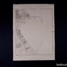 Líneas de navegación: CARTA NAUTICA DEL PUERTO DE MELILLA, 1937. Lote 111776103