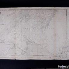 Linhas de navegação: CARTA NAUTICA DE HONDURAS GULF, ZAPOTILLOS CAYS, 1835-41. Lote 111777771