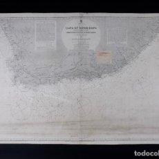 Líneas de navegación: CARTA NAUTICA COSTA SOUTH AFRICA, CAPE OF GOOD HOPE, 1867. Lote 111782671