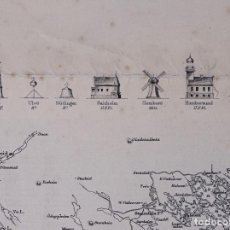 Líneas de navegación: CARTA NAUTICA NORWAY, CRISTIANS AND TO SANDÖEN, 1901. Lote 111783311