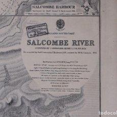 Líneas de navegación: CARTA NAUTICA DE ENGLAND, SALCOMBE RIVER, 1901. Lote 111783663