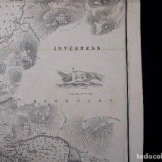 Líneas de navegación: CARTA NAUTICA SCOTLAND, SLEAT SOUND, 1860. Lote 111784491