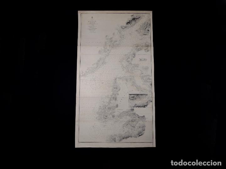 Líneas de navegación: CARTA NAUTICA SCOTLAND, SLEAT SOUND, 1860 - Foto 2 - 111784491