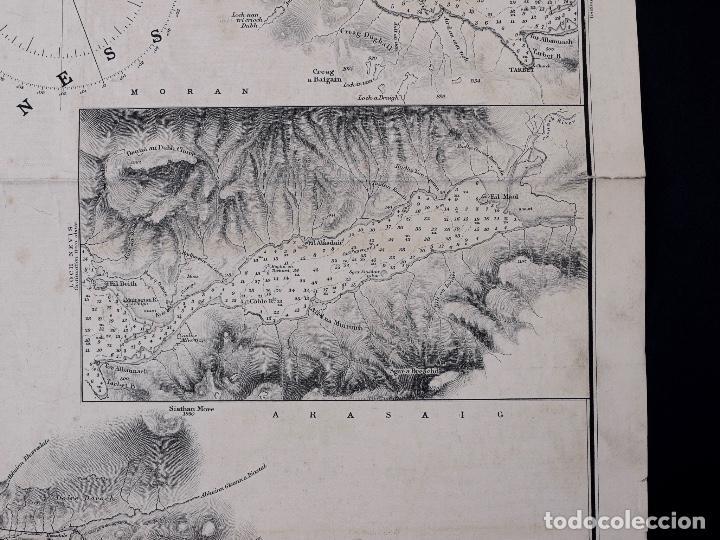 Líneas de navegación: CARTA NAUTICA SCOTLAND, SLEAT SOUND, 1860 - Foto 4 - 111784491