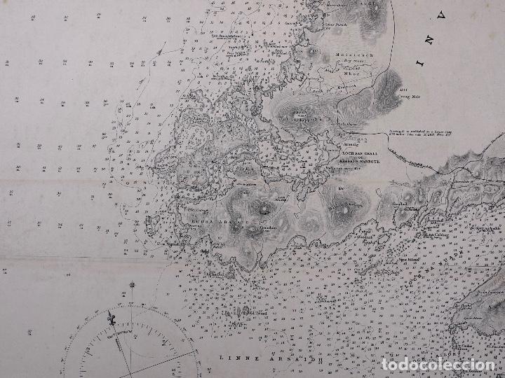 Líneas de navegación: CARTA NAUTICA SCOTLAND, SLEAT SOUND, 1860 - Foto 5 - 111784491